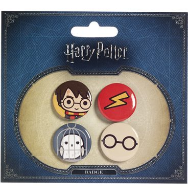 Ensemble badges Chibi Harry Hedwige