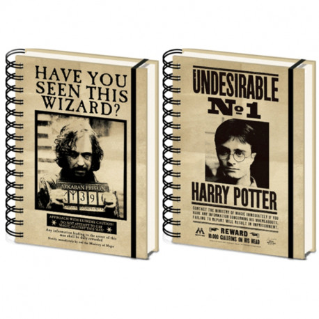 Carnet Couverture Animee Harry - Sirius 3D