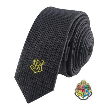 Cravate Deluxe Poudlard avec pin's