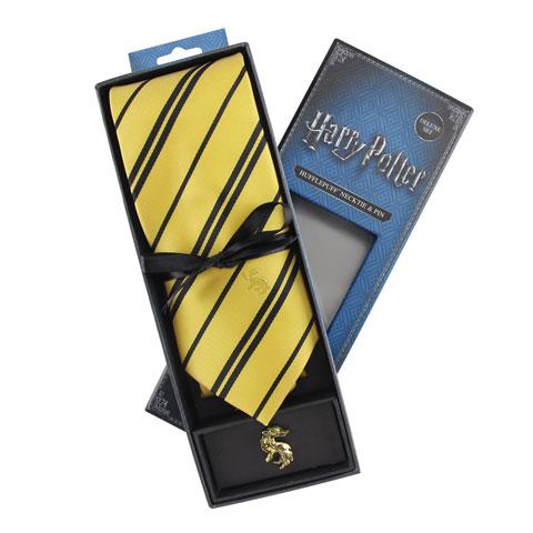 Cravate Deluxe Poufsouffle avec pin's