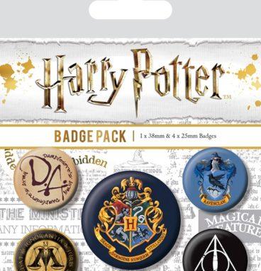 Pack 5 Badges Poudlard