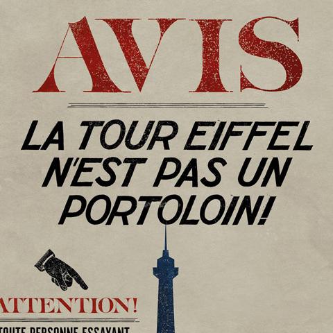 """Poster """"La tour Eiffel n'est pas un Portoloin"""""""