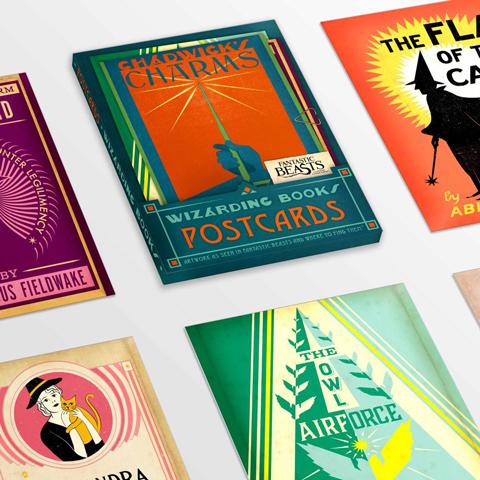 Lot de 20 cartes postales - Wizarding books