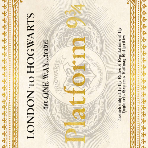 Carte 2 volets Hogwarts Express Ticket