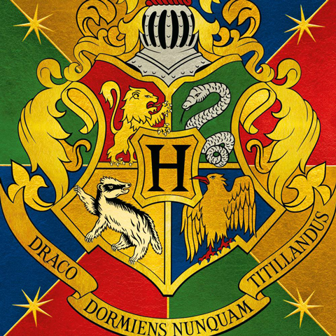 Carte 2 volets Blason de Hogwarts