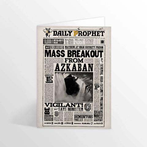 Carte de voeux lenticulaire Mass Breakout From Azkaban