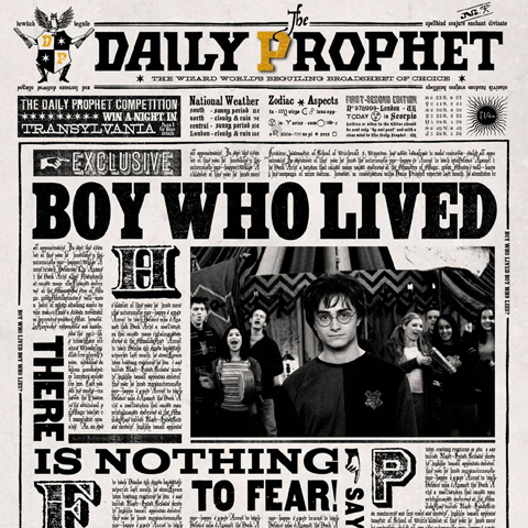 Carte Lenticulaire Harry Potter Daily Prophet