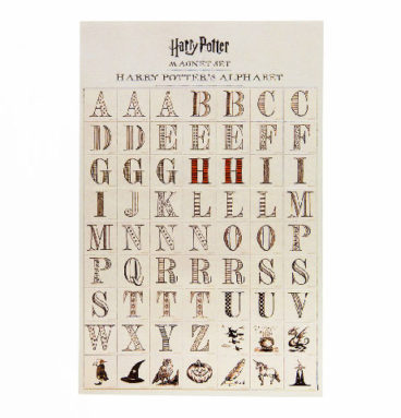 Lot de magnets Alphabetique Harry Potter
