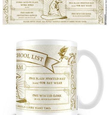 Mug Liste Fourniture Poudlard