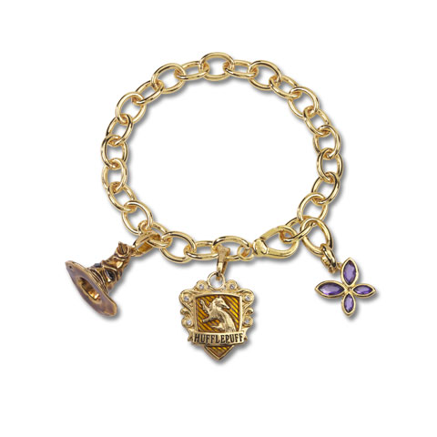 Bracelet Charm Lumos Poufsouffle Plaqué Or