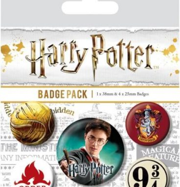 Pack 5 Badges Gryffondor