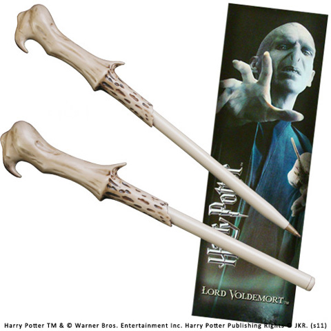 Stylo Baguette & marque page Voldemort