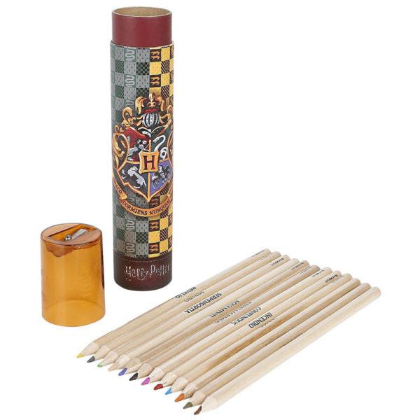 Tube de Crayons de Couleur Poudlard