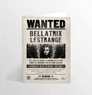 carte wanted 3D bellatrix lestrange