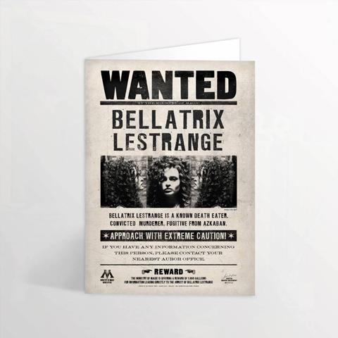 carte wanted 3D bellatrix lestrange