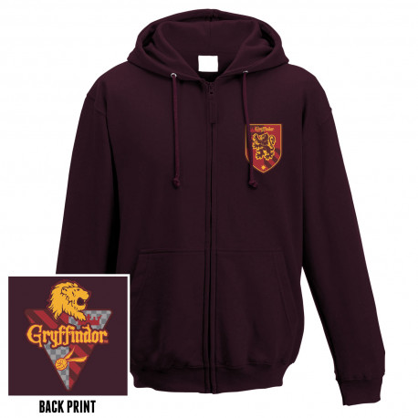 Sweatshirt Zippé Gryffondor