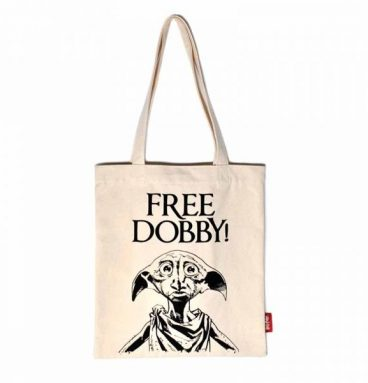 "Sac en toile beige : ""Free Dobby"""