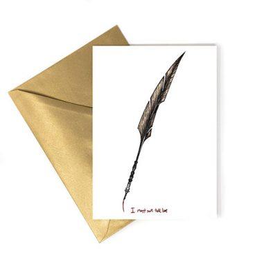 """Carte Postale - Plume Ombrage """"Je ne dois pas dire de mensonges"""""""