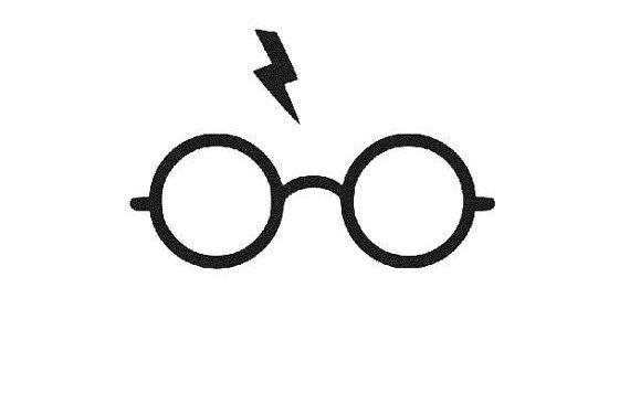 Logo lunettes rondes d' Harry Potter et la cicatrice en forme d'éclair