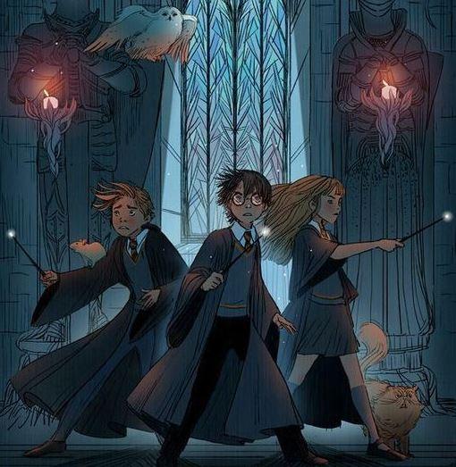 Dessin Fan Art Pinterest - Trio Harry Potter