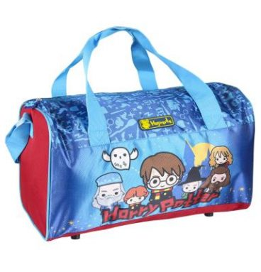 Grand sac de sport rouge et bleu - Chibi Harry Potter
