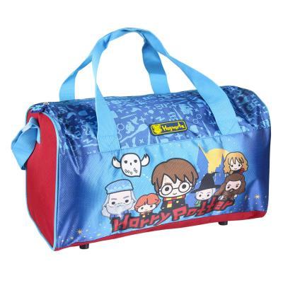 Grand sac de sport rouge et bleu - Chibi Harry Potter