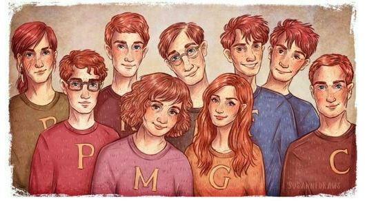 Fan art famille weasley