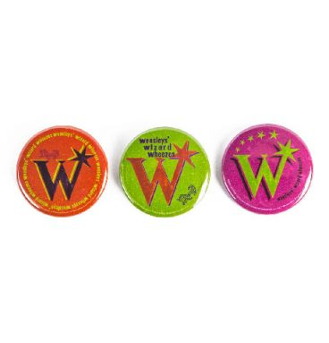 Lot de 3 badges du masagin des frères Weasley