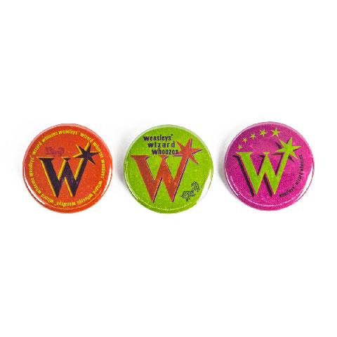 Lot de 3 badges du masagin des frères Weasley