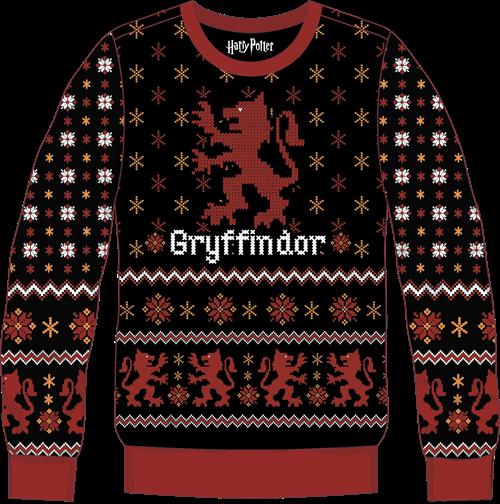 Pull de Noël Gryffondor