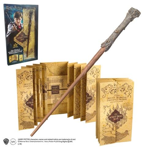 Carte du Maraudeur et Baguette Harry Potter