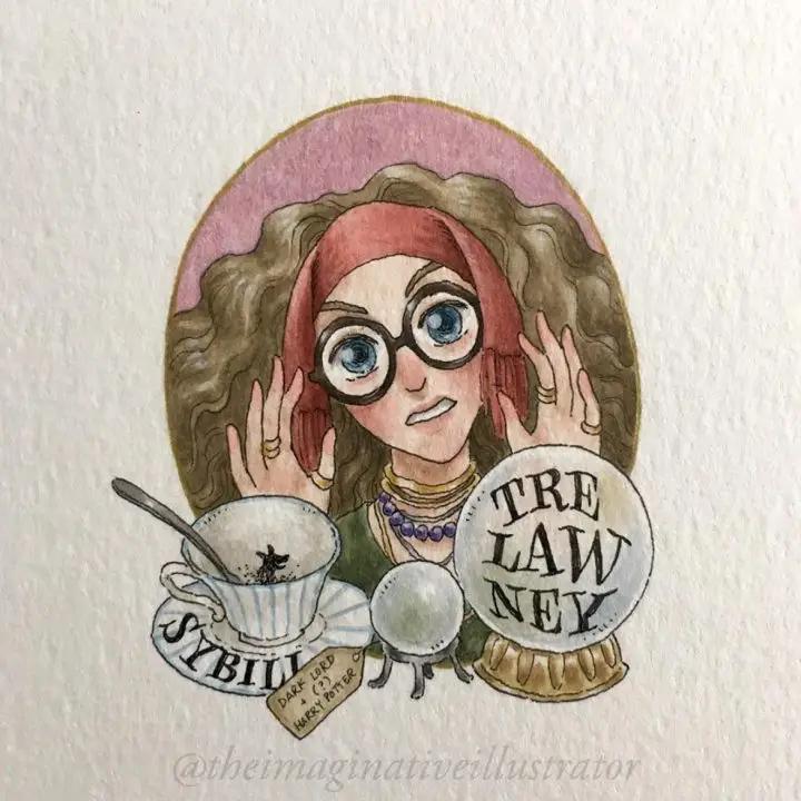 Sybille Trelawney : prophéties saga Harry Potter