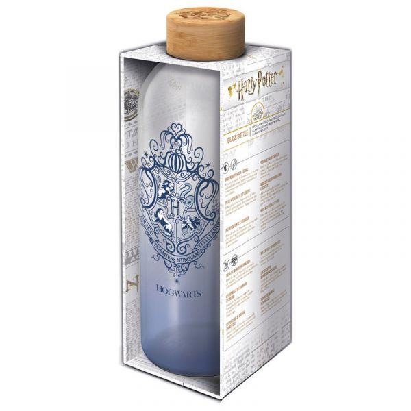 Bouteille en verre Poudlard - bleue