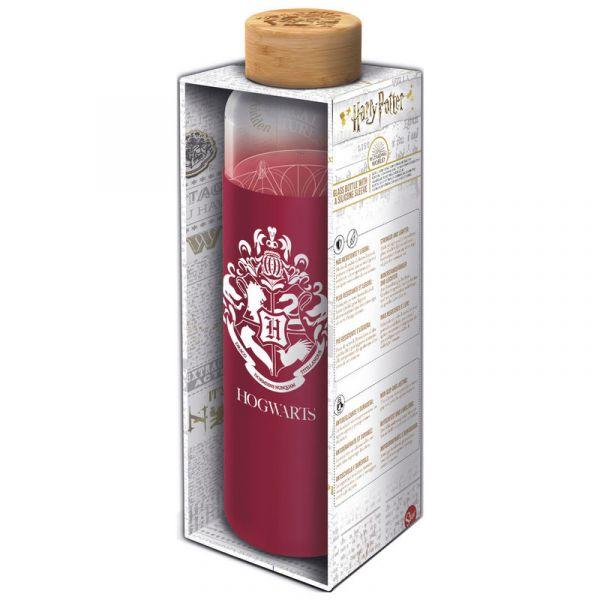 Bouteille en verre Poudlard - rouge