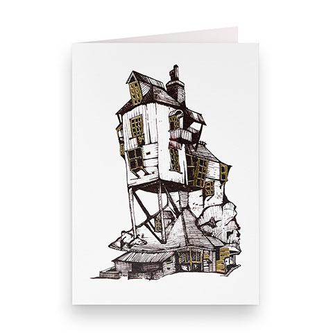 Carte postale - Le terrier des Weasley