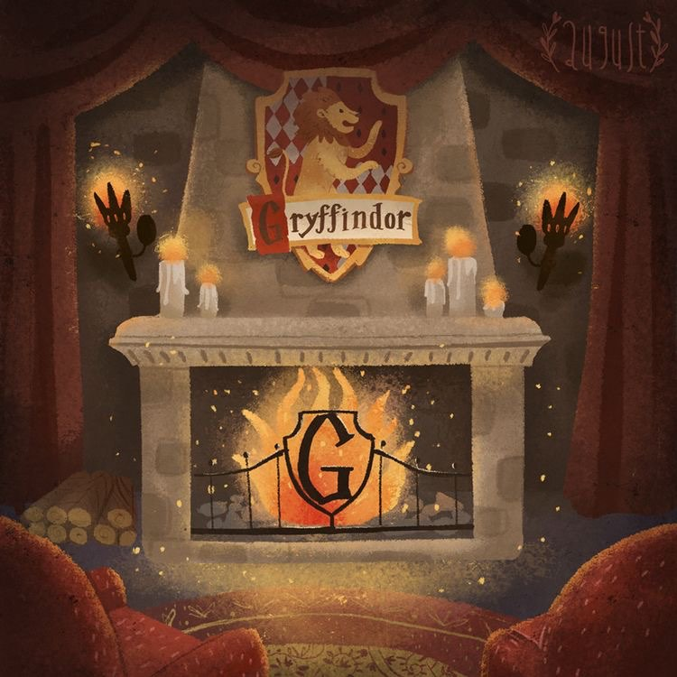 salle commune Gryffondor déco harry potter