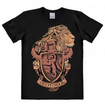 T shirt noir armoirie de Gryffondor