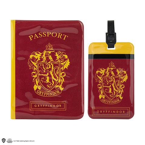 Couverture de Passeport et Porte-étiquette Gryffondor