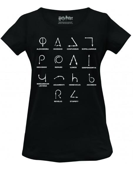 T-Shirt Wizard wand spells