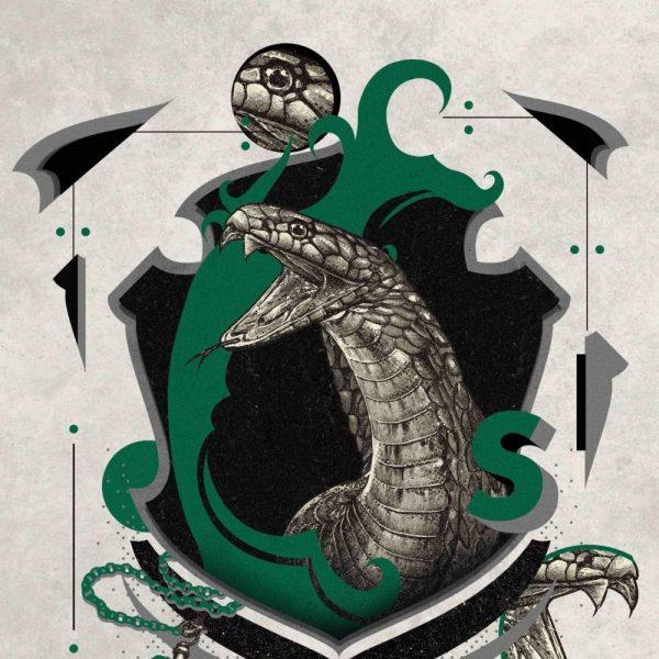 Affiche Serpentard 36x28
