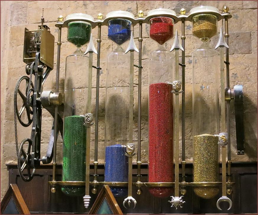 Sablier de Poudlard - goodies officiels harry Potter