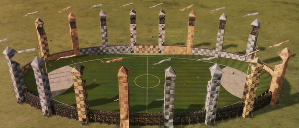 Terrain de Quidditch de Poudlard - goodies officiels harry potter