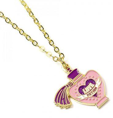 Collier potion d'amour plaqué or rose