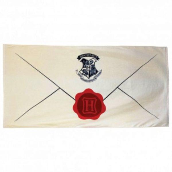 Serviette Harry Potter 150 x 75 cm Déclinaisons - Lettre d'Admission Poudlard