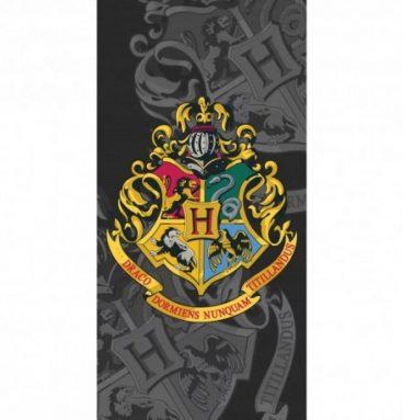 Serviette de Plage Harry Potter Noire Blason Poudlard