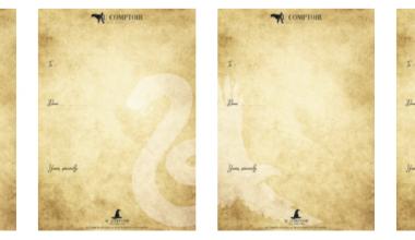Créez-vous-même votre lettre d'admission à Poudlard grâce à ce papier à lettre Harry Potter à imprimer !