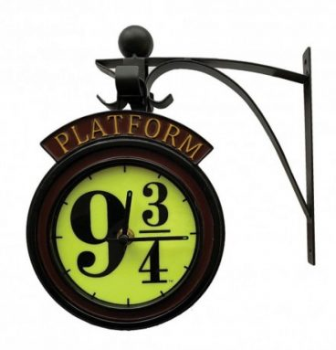Horloge Applique Quai 9 34 Phosphorescente avec Support Métallique