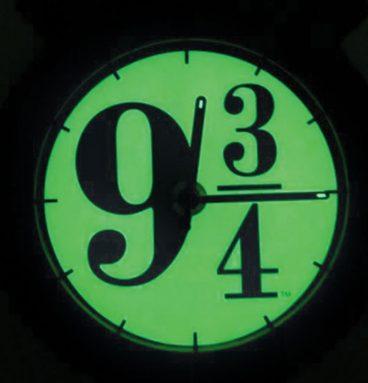 Horloge Applique Quai 9 34 Phosphorescente avec Support Métallique2
